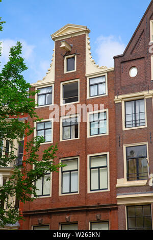 Traditional houses of the Amsterdam, Netherlands - Stock Image