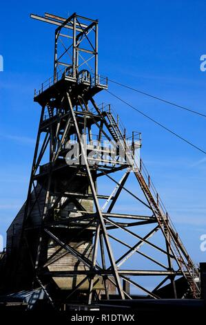 Geevor tin mine museum,Pendeen,West Penwith,Cornwall,England,UK, - Stock Image