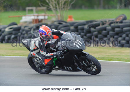 East Fortune, UK. 14 April, 2019. 31 jimmy Shanks on a Kramer EVO R in a Scottish Lightweights race at East Fortune Raceway, during the opening rounds of the 2019 Scottish Championships, Melville Open and Club Championships. Credit: Roger Gaisford/Alamy Live News - Stock Image