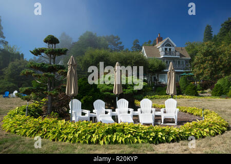 Residence along the Shore Path in Bar Harbor, Maine, USA. - Stock Image