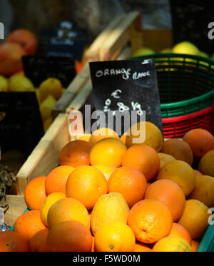 Oranges for sale in St. Tropez market. - Stock Image