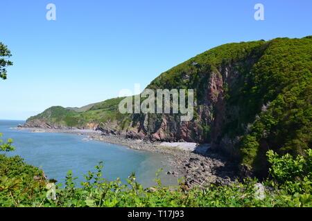 Woody Bay, Devon, UK - Stock Image