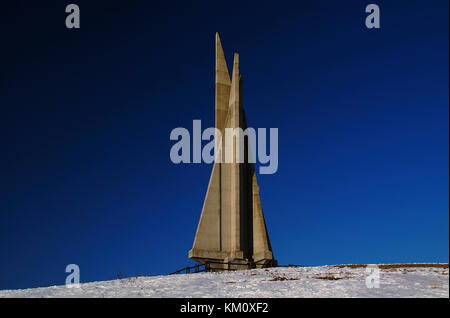Monument to soldiers killed in the Great War at Monte Corno, Lusiana, Vicenza, Italy - Stock Image