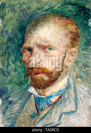 Vincent van Gogh, Self portrait, Paris, June 1887 - Stock Image