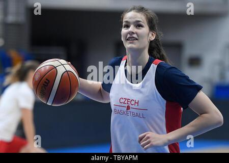 Veronika Vorackova of the Czech Republic national basketball team attends a training session prior to the European Championship (FIBA Women's EuroBasket 2019), on June 4, 2019, in Prague, Czech Republic. (CTK Photo/Ondrej Deml) - Stock Image