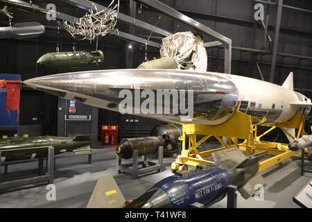 Atomic bomb at the RAF Museum, London - Stock Image