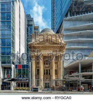Historic neo-classical Bank of Toronto building on Yonge street in Toronto Ontario Canada - Stock Image