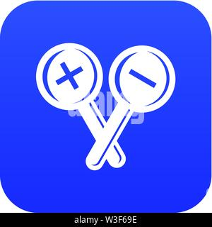 Ophthalmology test icon, simple style - Stock Image