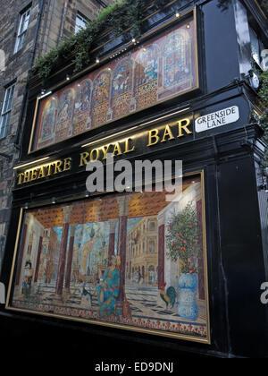 Theatre Royal Bar, Greenside lane, Edinburgh, Scotland, UK - Stock Image