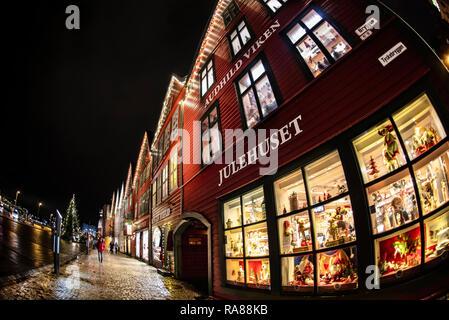 Bryggen, Bergen, Norway. - Stock Image