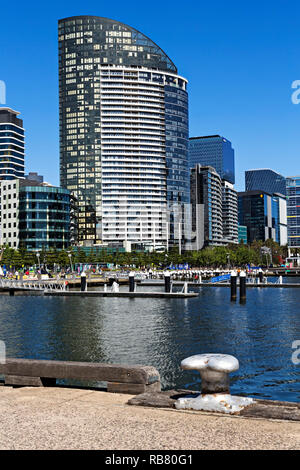 The luxury Victoria Point residential apartments in Melbourne Docklands, Melbourne Victoria Australia. - Stock Image