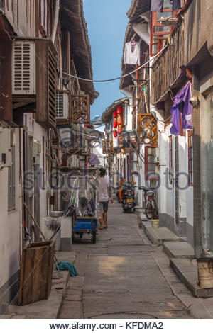 Sidestreet in Zhujiajiao Shanghai China - Stock Image