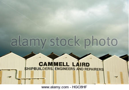 Stock Photo Cammell Laird, shipbuilders, Engineers & ship repairers,Cammell Laird Shipyard in Birkenhead, Wirral, - Stock Image