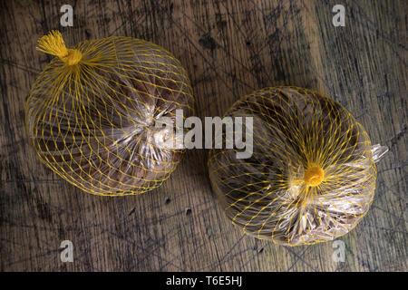 whole packaged borojo fruits in colombia - Stock Image