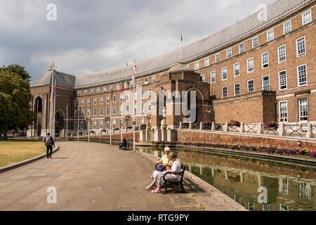 British City Council on College Green, Bristol, UK - Stock Image