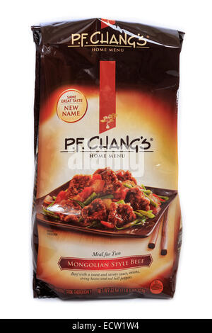 P.F. Changs Home Menu Mongolian Style Beef Ready Meal - Stock Image