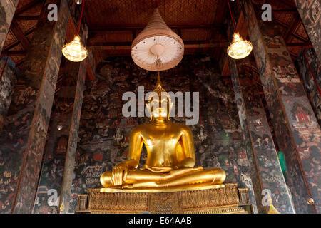 Gallery of Buddhas at Wat Suthat or Wat Suthat Thepwararam, Bangkok, Thailand - Stock Image