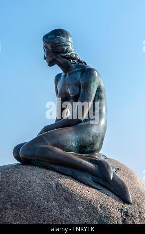The Little Mermaid, Den Lille Havfrue, Copenhagen, Denmark - Stock Image