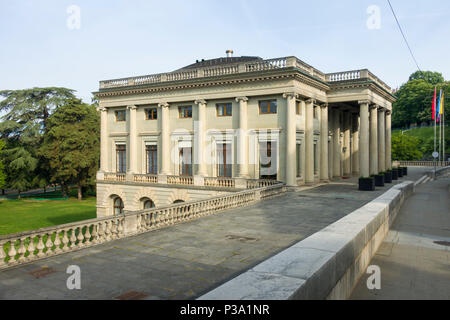 The Palais Eynard, rue de l'Athenee, Geneva, Switzerland, built c.1817 as the private house of Jean-Gabriel Eynard, now the city Conseil Administratif - Stock Image