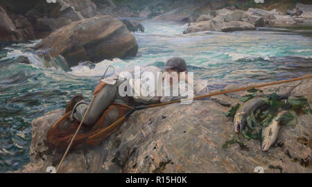 On His Holidays, Norway,  John Singer Sargent, 1901-1902, Lady Lever Art Gallery, Port Sunlight, Liverpool, England, UK, Europe - Stock Image