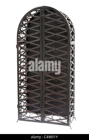metallic wine rack - Stock Image