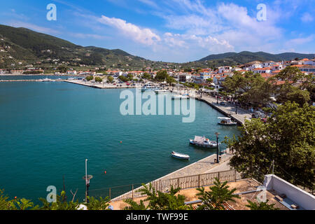 Skopelos Harbour, Northern Sporades Greece. - Stock Image