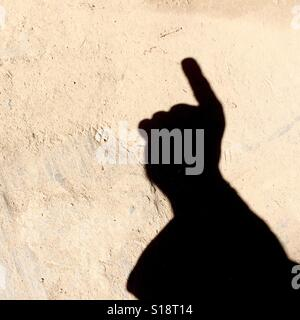 Counting with fingers - one - Stock Image