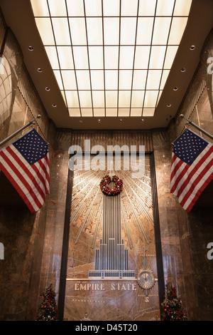 Lobby of the Empire States Building, Manhattan, New York City, NY, USA - Stock Image