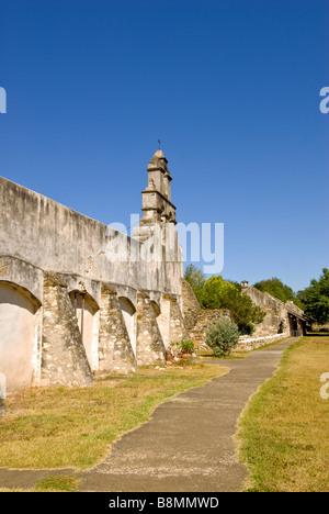Mission San Juan San Antonio missions national historical park us national park service Texas TX popular tourist - Stock Image