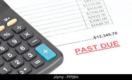 Calculator and invoice - Stock Image