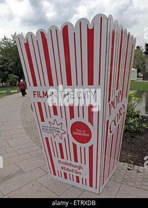 Film in The City, Grassmarket and St Andrew Square screenings, Edinburgh, Scotland, UK - Stock Image