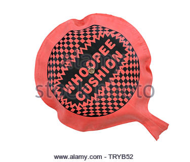 Whoopee Cushion, Cut Out - Stock Image