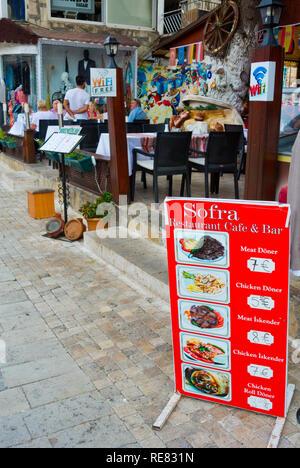 Restaurant Sofra, old town, Side, Turkey, Eurasia - Stock Image