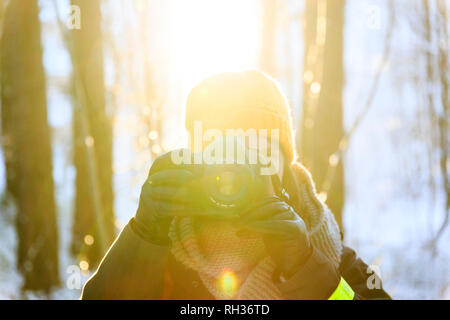 Woman talking picture - Stock Image