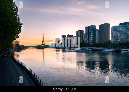 Paris skyline with Eiffel tower in background at Paris, France. - Stock Image