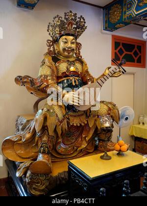 The Po Lin Buddhist Monastery on located on Ngong Ping Plateau,  Lantau Island, Hong Kong China - Stock Image