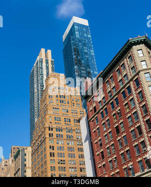 Buildings in central Manhattan, New York City, New York State, USA. - Stock Image