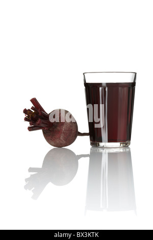 Beetroot Juice in Glass - Stock Image