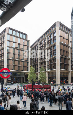 Bloomberg London headquarters building as viewed from Cannon Street railway station. - Stock Image