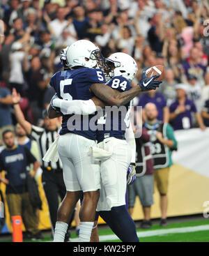 Glendale, AZ, USA. 30th Dec, 2017. WR #5 DaeSean Hamilton of Penn State celebrates a touchdown catch during the - Stock Image