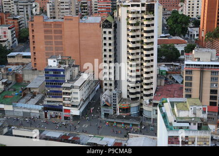The boulevard of Sabana Grande, Caracas Venezuela. Downtown district. Photo taken from Citibank CC El Recreo. Vicente Quintero and Marcos Kirschstein. - Stock Image