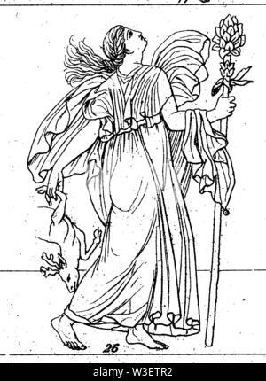 Bacchante, ,  (cultural history book, 1875) - Stock Image
