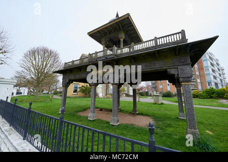 Angle shot of Jaipur Gate at the Hove Museum and Art Gallery's front garden, at its Entrance. - Stock Image