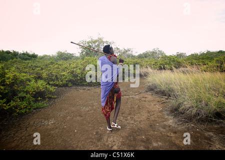 Masai Saadani National Park Tanzania Africa - Stock Image