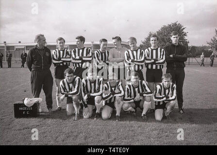 1960s, Group picture of the football players of Hazells F. C - Stock Image