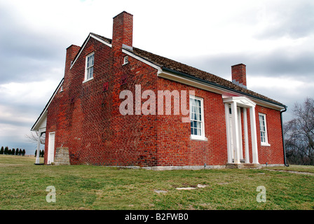 This is the Rankin House in Ripley Ohio. It is one of the major locations in the underground railroad. - Stock Image