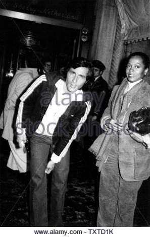 Diana Ross And Ilya Nastase. Credit: 1546663Globe Photos/MediaPunch - Stock Image