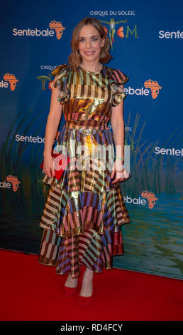London, United Kingdom. 16 January 2019. Laura Main arrives for the red carpet premiere of Cirque Du Soleil's 'Totem' held at The Royal Albert Hall. Credit: Peter Manning/Alamy Live News - Stock Image