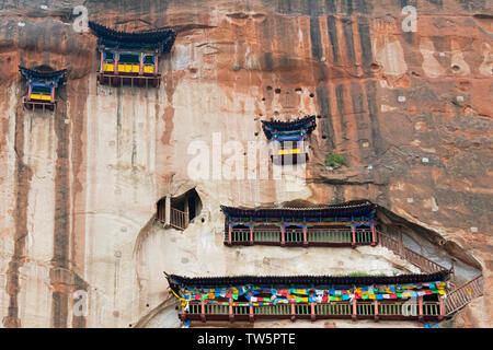 33-Grottoes of Puguang Temple, Mati Temple Scenic Area, Zhangye, Gansu Province, China - Stock Image