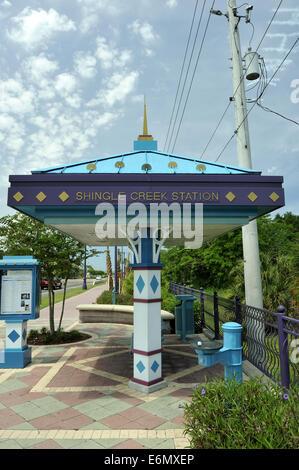Shingle Creek, Kissimmee, bus station. Kissimmee, Osceola County, Florida, USA - Stock Image